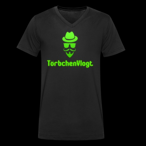 TörbchenVlogt Logo - Männer Bio-T-Shirt mit V-Ausschnitt von Stanley & Stella