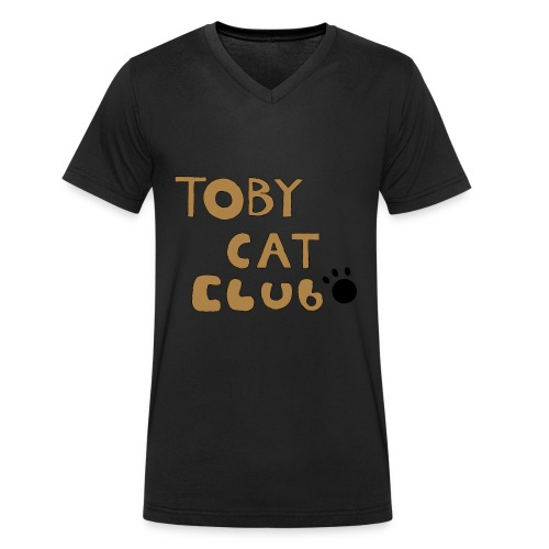 Toby Cat Club Rough Sketch - Men's Organic V-Neck T-Shirt by Stanley & Stella