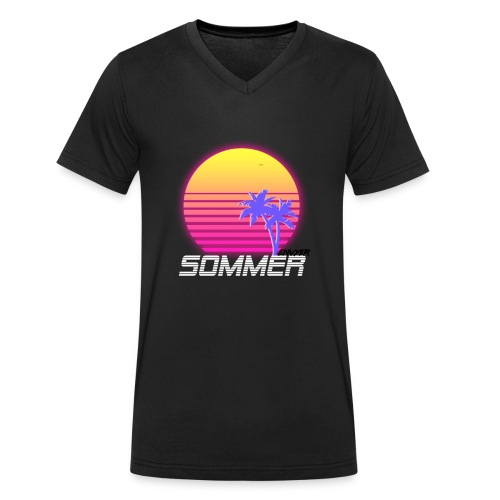 Sommer Logo - Männer Bio-T-Shirt mit V-Ausschnitt von Stanley & Stella