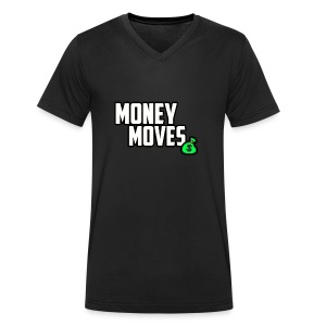 MONEY MOVES - Men's Organic V-Neck T-Shirt by Stanley & Stella