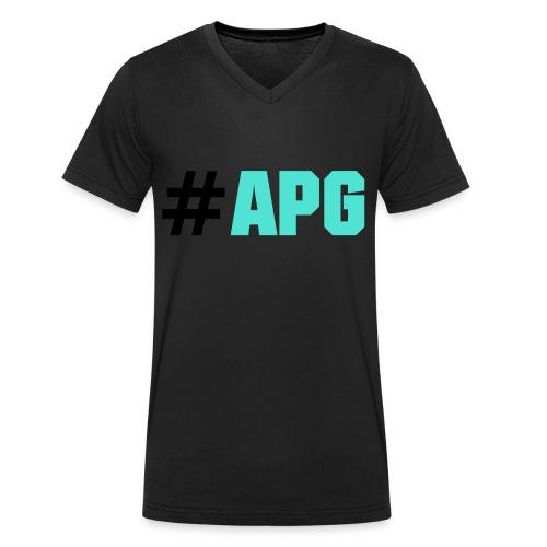 #APG - Männer Bio-T-Shirt mit V-Ausschnitt von Stanley & Stella