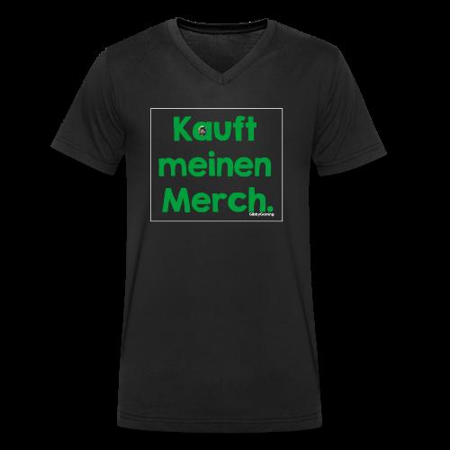 KmM mit Logo - Männer Bio-T-Shirt mit V-Ausschnitt von Stanley & Stella