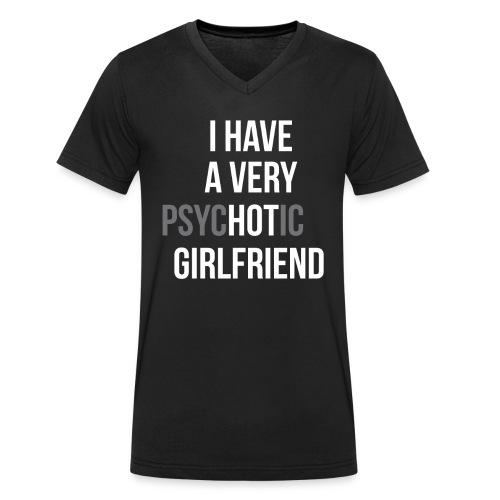 """Ich habe eine sehr """"HOT"""" Freundin - Männer Bio-T-Shirt mit V-Ausschnitt von Stanley & Stella"""