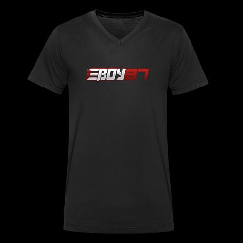 EBoy Logo - Men's Organic V-Neck T-Shirt by Stanley & Stella