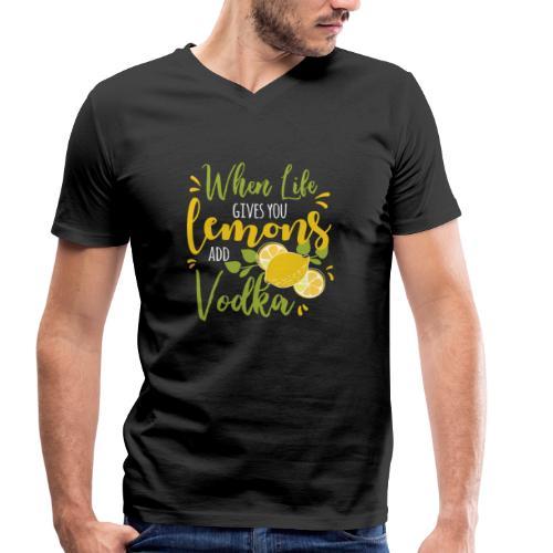 vodka lemon - Männer Bio-T-Shirt mit V-Ausschnitt von Stanley & Stella