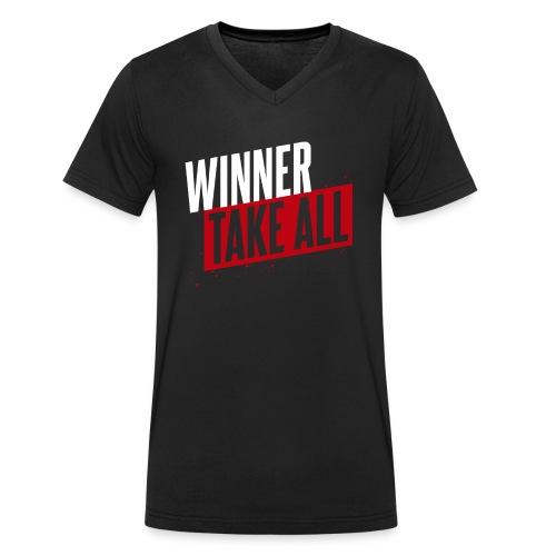 Winner take ALL - Männer Bio-T-Shirt mit V-Ausschnitt von Stanley & Stella