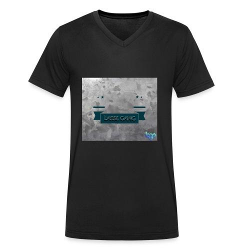 Lasse Gang Logo - Männer Bio-T-Shirt mit V-Ausschnitt von Stanley & Stella