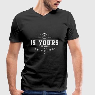 Le monde est à vous - T-shirt bio col V Stanley & Stella Homme