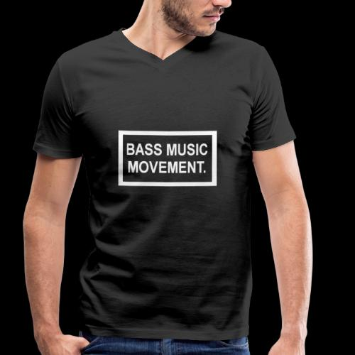 Bass Music Movement - White - Men's Organic V-Neck T-Shirt by Stanley & Stella