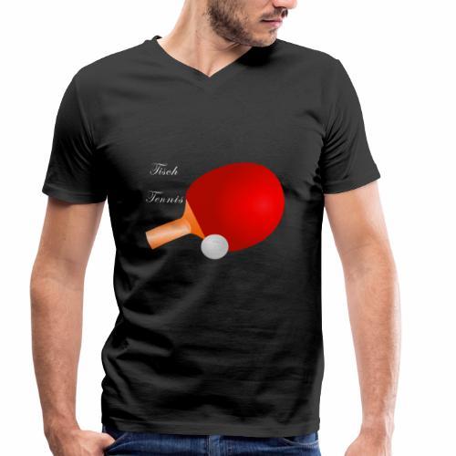 Tischtennis - Männer Bio-T-Shirt mit V-Ausschnitt von Stanley & Stella