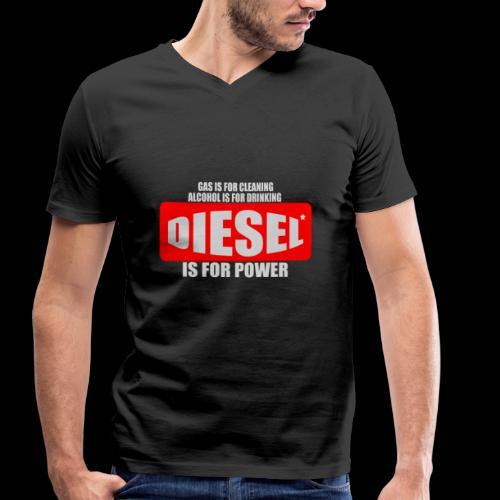 Diesel Power Feinstaub Erzeuger Trucker Tuning - Männer Bio-T-Shirt mit V-Ausschnitt von Stanley & Stella