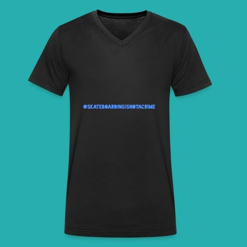 #SKATEBOARDINGISNOTACRIME - Männer Bio-T-Shirt mit V-Ausschnitt von Stanley & Stella
