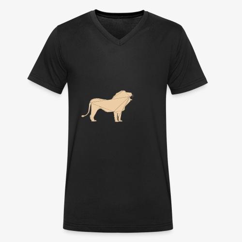 polyLion - Männer Bio-T-Shirt mit V-Ausschnitt von Stanley & Stella