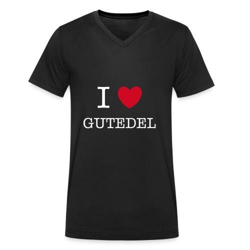 I LOVE GUTEDEL - Männer Bio-T-Shirt mit V-Ausschnitt von Stanley & Stella