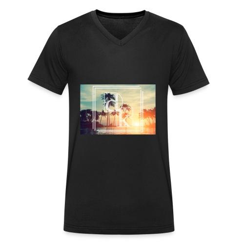 Dk Palm - Männer Bio-T-Shirt mit V-Ausschnitt von Stanley & Stella