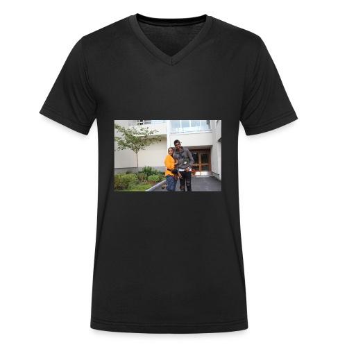 ishaa aziiz - Ekologisk T-shirt med V-ringning herr från Stanley & Stella
