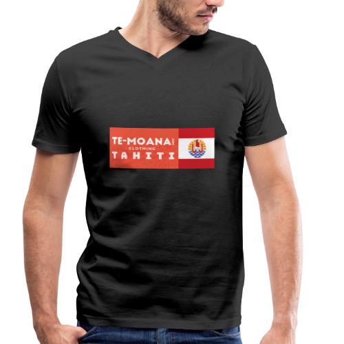Te Moana Tahiti. Spirit of Sea, Land, Sky - Männer Bio-T-Shirt mit V-Ausschnitt von Stanley & Stella