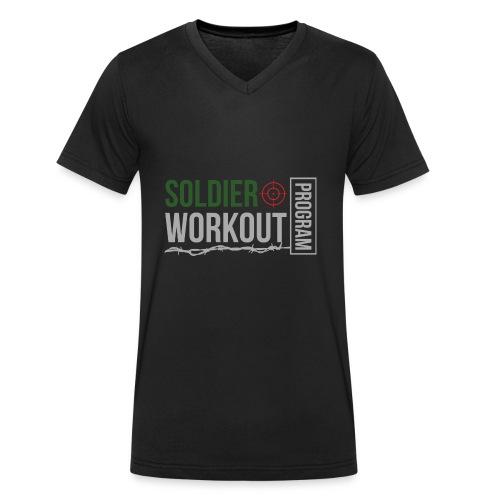 Soldier Workout Program - Ekologisk T-shirt med V-ringning herr från Stanley & Stella