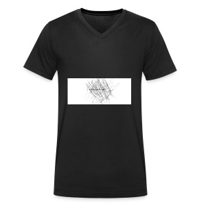 scrible out the hatters - Men's Organic V-Neck T-Shirt by Stanley & Stella