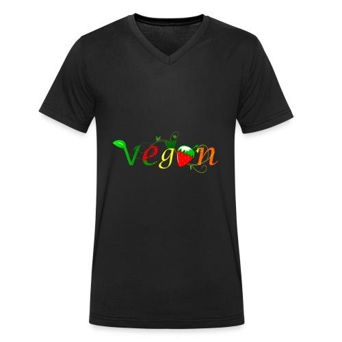 Vegan - Camiseta ecológica hombre con cuello de pico de Stanley & Stella