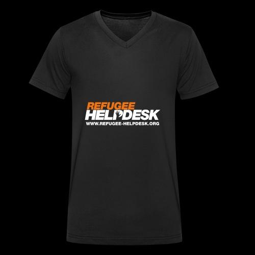 Refugee Helpdesk Logo (Bright) - Männer Bio-T-Shirt mit V-Ausschnitt von Stanley & Stella