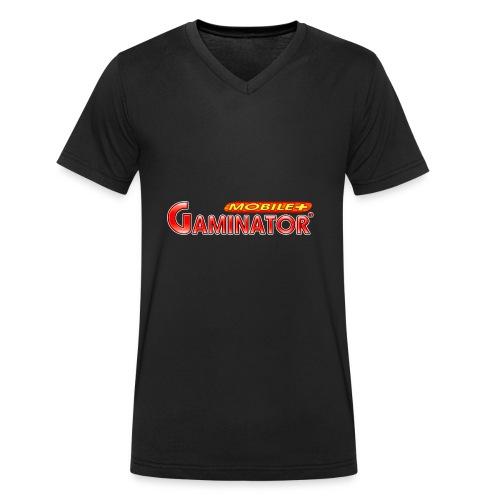Gaminator logo - Men's Organic V-Neck T-Shirt by Stanley & Stella