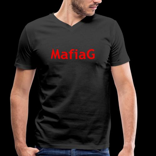 MafiaG Red - Men's Organic V-Neck T-Shirt by Stanley & Stella
