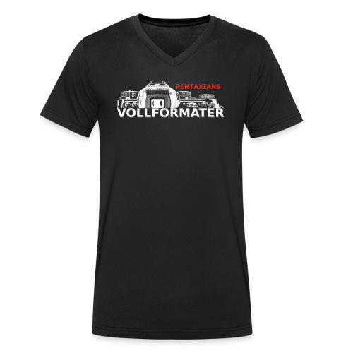 Pentaxians VOLLFORMATER white Logo - Männer Bio-T-Shirt mit V-Ausschnitt von Stanley & Stella