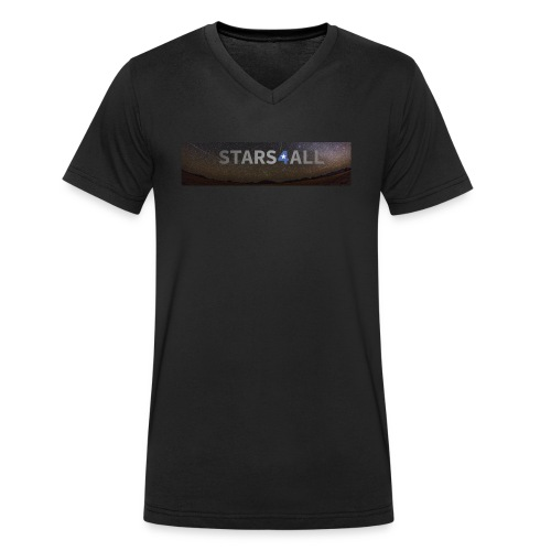 Stars4All Panoramica high - Camiseta ecológica hombre con cuello de pico de Stanley & Stella
