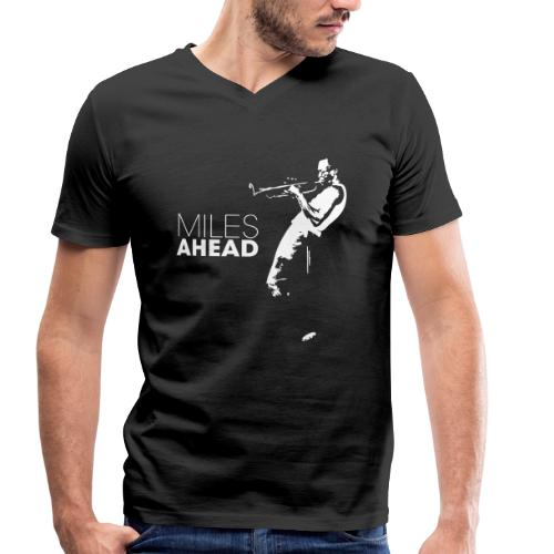 miles ahead white - Mannen bio T-shirt met V-hals van Stanley & Stella