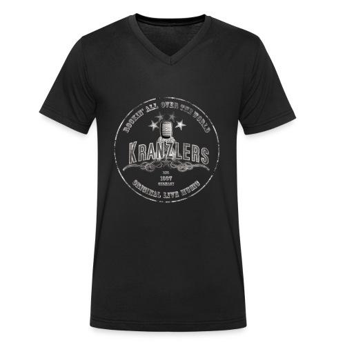 Kranzlers Rockin´All Over The World Vintage - Männer Bio-T-Shirt mit V-Ausschnitt von Stanley & Stella