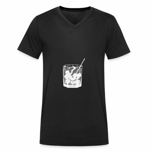 Kleines Glas Gin Tonic - Sommerdrink - Transparent - Männer Bio-T-Shirt mit V-Ausschnitt von Stanley & Stella