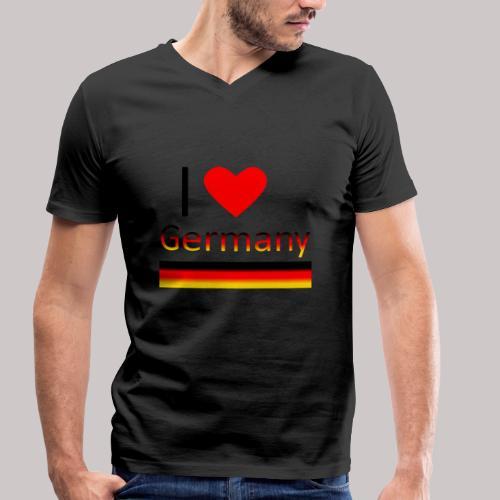 I love Germany - Ich liebe Deutschland - Männer Bio-T-Shirt mit V-Ausschnitt von Stanley & Stella