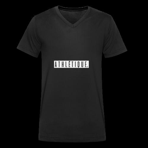 athlétique. (schwarz-auf-weiß) - Männer Bio-T-Shirt mit V-Ausschnitt von Stanley & Stella