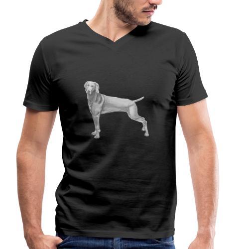 weimaraner - Økologisk Stanley & Stella T-shirt med V-udskæring til herrer