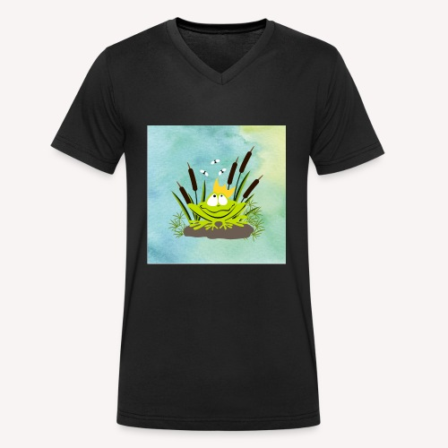 frog king watercolor - Männer Bio-T-Shirt mit V-Ausschnitt von Stanley & Stella