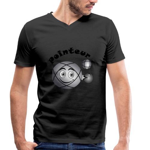 t shirt pointeur pétanque boule existe en tireur N - T-shirt bio col V Stanley & Stella Homme