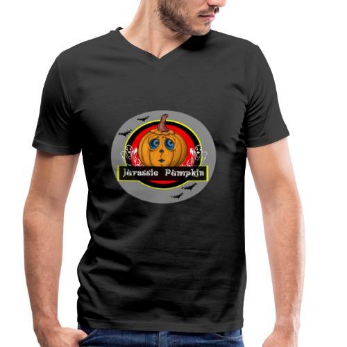 Jurassic Pumpkin - Männer Bio-T-Shirt mit V-Ausschnitt von Stanley & Stella
