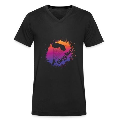Skydive Watercolor - Männer Bio-T-Shirt mit V-Ausschnitt von Stanley & Stella
