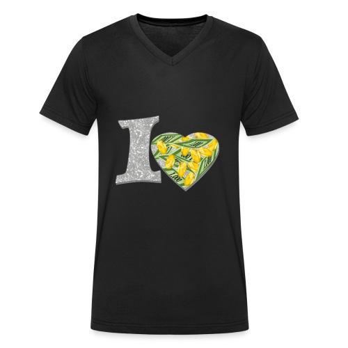 I LOVE MONEY - Männer Bio-T-Shirt mit V-Ausschnitt von Stanley & Stella