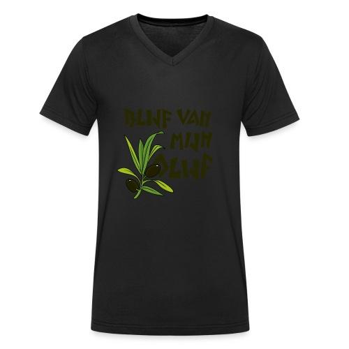 blijf van mijn olijf donker - Mannen bio T-shirt met V-hals van Stanley & Stella