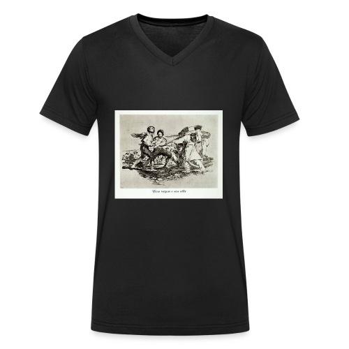 GOYA CON RAZON O SIN ELLA - Camiseta ecológica hombre con cuello de pico de Stanley & Stella