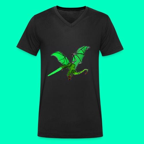 Gift speiender Drache - Männer Bio-T-Shirt mit V-Ausschnitt von Stanley & Stella