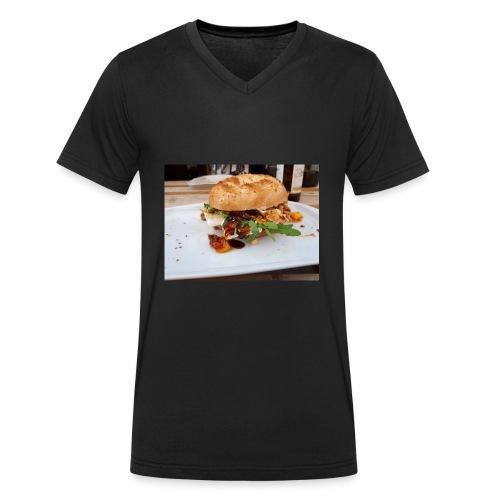 Bagel Chicken Burger - Männer Bio-T-Shirt mit V-Ausschnitt von Stanley & Stella