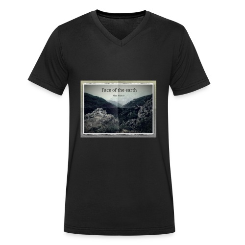 face of the earth - Mannen bio T-shirt met V-hals van Stanley & Stella