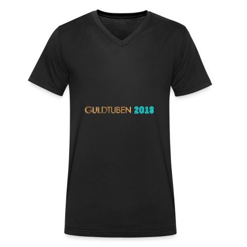 Guldtuben 2018 - Økologisk Stanley & Stella T-shirt med V-udskæring til herrer