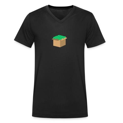 Geld Karton - Männer Bio-T-Shirt mit V-Ausschnitt von Stanley & Stella