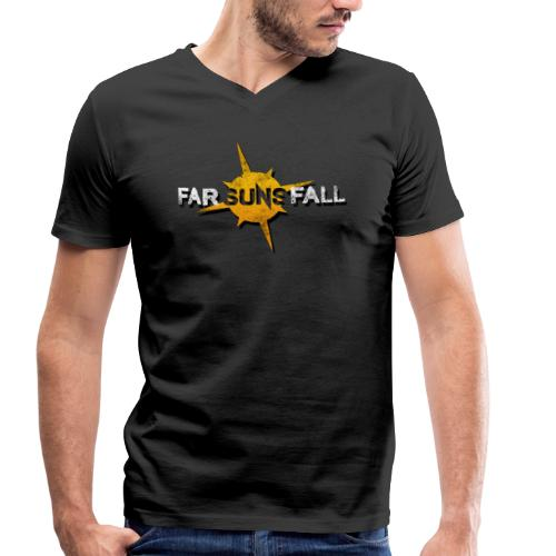 Far Suns Fall Logo - Men's Organic V-Neck T-Shirt by Stanley & Stella
