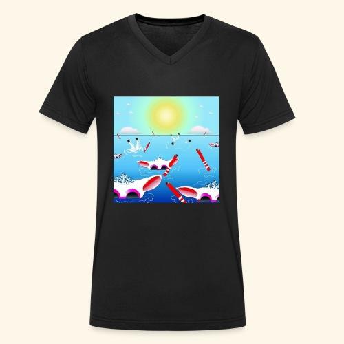 SHEEPLAKECOMIC - Männer Bio-T-Shirt mit V-Ausschnitt von Stanley & Stella