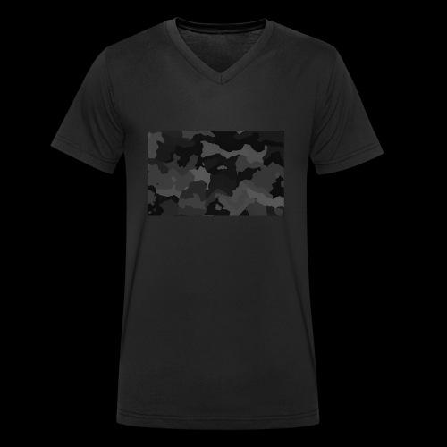 Camouflage-Black - Männer Bio-T-Shirt mit V-Ausschnitt von Stanley & Stella